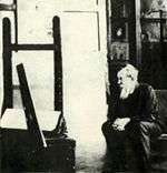 В.М. Васнецов в мастерской своего дома.