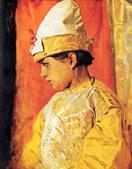 В. М. Васнецов. В костюме скомороха. 1882.