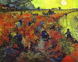 Красные виноградники в Арле (Ван Гог)