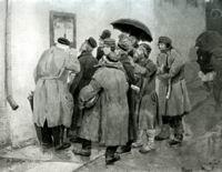 В.М. Васнецов. Военная телеграмма. 1878 г. Холст, масло. ГТГ.