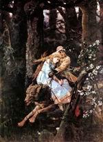 В.М. Васнецов. Иван-царевич на Сером Волке. 1889. X., м. 249 х 187. ГТГ.