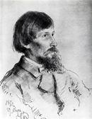 Илья Репин. Портрет В.М. Васнецова