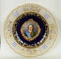 Тарелка с портретом Петра I (Мейсен, 1910 г.)