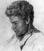 В. М. Васнецов. Портрет художника В. М. Максимова. Рис. 1874.
