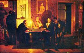 В. М. Васнецов. Преферанс. 1879.