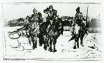 В.М. Васнецов. Богатыри. Первый эскиз одноименной картины. 1871-1874. ГТГ