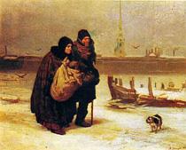 В. М. Васнецов. С квартиры на квартиру. 1876.