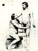 В.М. Васнецов. Два натурщика. Академический рисунок. 1869 г. Бум., уголь. Дом-музей В. М. Васнецова, Москва.