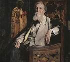 М. В. Нестеров. Портрет художника В.М. Васнецова. 1925 г.