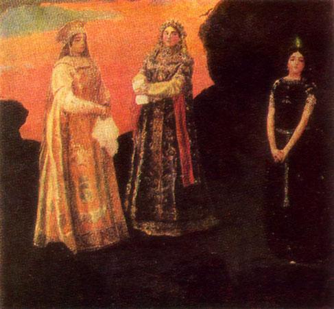 Три царевны подземного царства. Васнецов В.М.