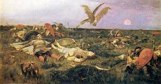 В. М. Васнецов. После побоища Игоря Святославича с половцами. 1880.