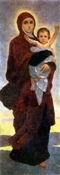 В.М. Васнецов. Богоматерь с младенцем. Эскиз для абсиды Владимирского собора в Киеве. 1885 г. Х., м. Дом-музей В. М. Васнецова.