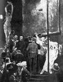 В. М. Васнецов. Акробаты. Первый вариант картины. 1876.