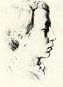 В.М. Васнецов. Портрет Ап.М. Васнецова. 1871 г. Бум., гр. кар. ДМВ.