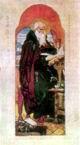 В.М. Васнецов. Нестор-летописец. 1919 г. Бум., акв. Дом-музей В. М. Васнецова.