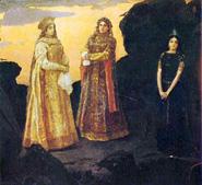 В. М. Васнецов. Три царевны подземного царства. 1881.