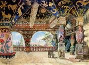 Палаты царя Берендея. Вариант. 1885 г. Бум., акв., гуашь, зол. ГТГ.