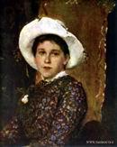 В.М. Васнецов. Портрет Т. А. Мамонтовой. 1884 г. Холст, масло. ГТГ.