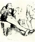 В.М. Васнецов. Иллюстрация к басне И.А. Крылова. 70-е годы XIX века. Бум., гр. кар. ДМВ.