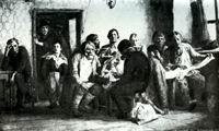 В.М. Васнецов. Чаепитие в трактире