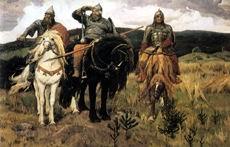 В.М. Васнецов. Богатыри. 1898 г. Х., м. ГТГ.