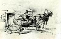 В.М. Васнецов. Тарантас. 1871 г. Бум., гр. кар. ДМВ.