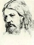 В.М. Васнецов. Портрет М.В. Васнецова. 1870 г. Бум., гр. кар. ДМВ.