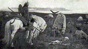 В. М. Васнецов. Витязь на распутье. 1882.