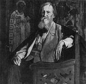М. В. Нестеров. Портрет В. М. Васнецова. 1925.