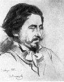 В. М. Васнецов. Портрет И. Е. Репина. Рис. 1882.