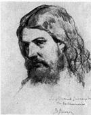 В. М. Васнецов. Портрет отца М. В. Васнецова. Рис. 1870.