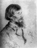 И. Е. Репин. Портрет В. М. Васнецова. Рис. 1882.