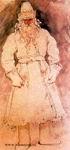 Виктор Васнецов. Мороз (в тулупе). Эскиз костюма. 1881. ГТГ